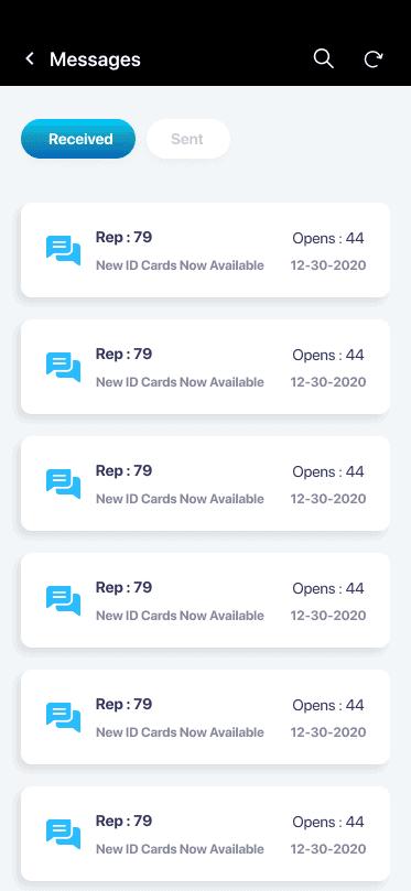 Corenroll Screenshot of Messages