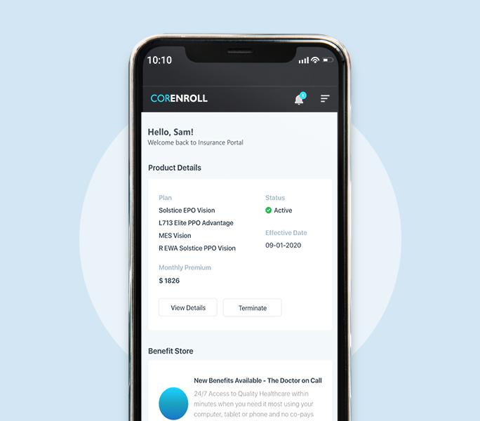 CORENROLL Mobile Application